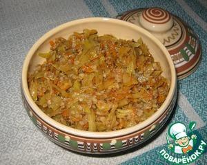 Рецепт Тушеная капуста с гречкой