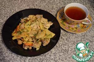 Рецепт Индейка с картошкой в духовке