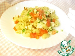 Рецепт Паста-салат с овощами и адыгейским сыром