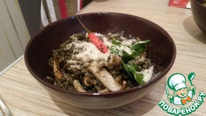 Рецепт Ризотто с чернилами каракатицы и морепродуктами