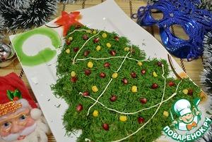 Рецепт Салат на новый год «Елочка»