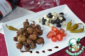 Рецепт Антипасти тарелочка