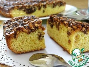 Рецепт Яблочная шарлотка под арахисовым грильяжем