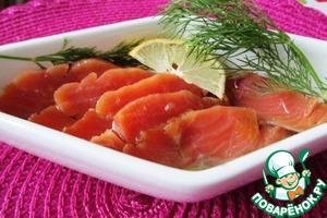 Рецепт Малосольный лосось в медовом маринаде