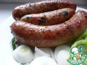 Рецепт Гриль-колбаска чесночная с луком