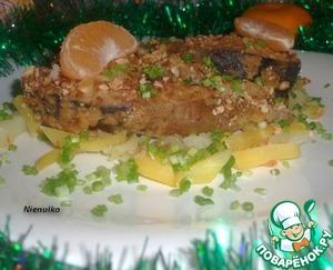 Рецепт Карп запеченный с мандаринами
