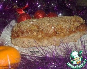 Рецепт Праздничный мясной рулет с овощами