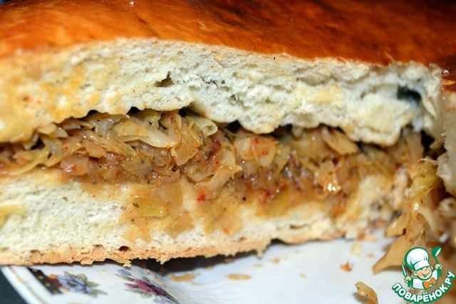 Пирог с начинкой из капусты рецепт с