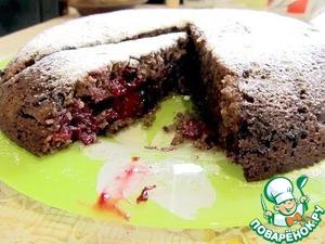 Рецепт Постный шоколадный манник с ежевикой