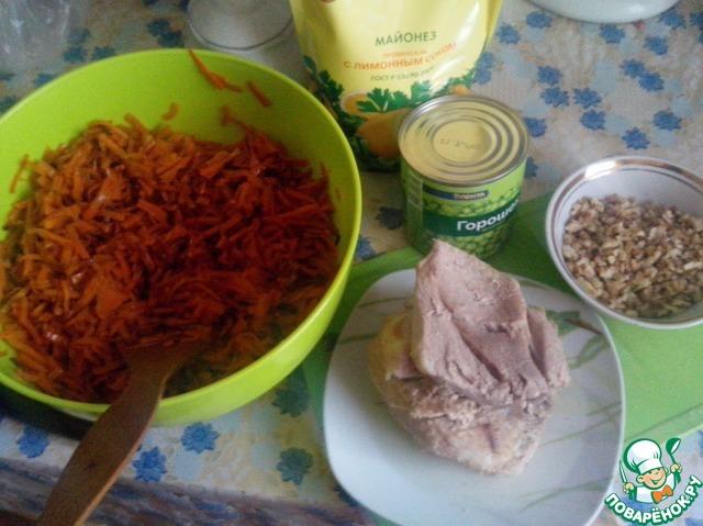 рецепт салат говядина грецкие орехи