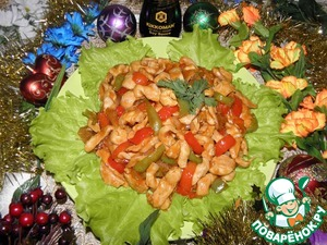Рецепт Куриное филе в кисло-сладком соусе