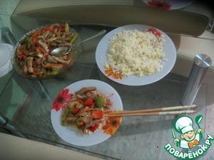 Рецепт Свинина на китайский мотив с рисом и яйцом
