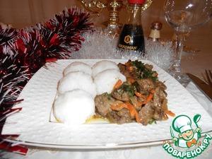 Рецепт Снежки из риса с нежной печенью
