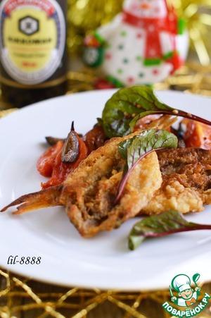 Рецепт Барабулька с помидорами и маслинами