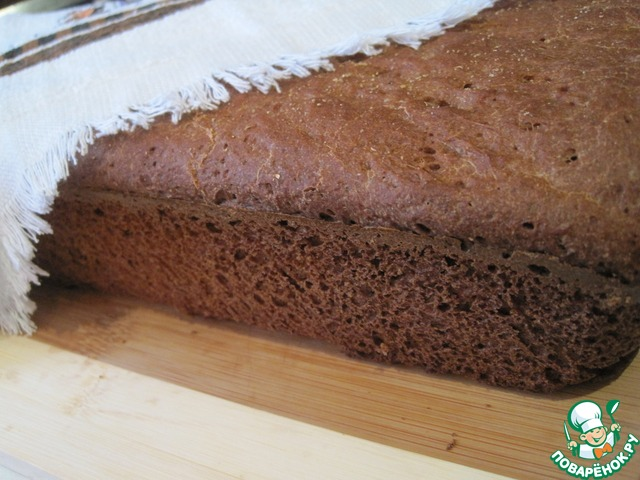 Ржанопшеничный хлеб на квасном сусле  Дома хлеб