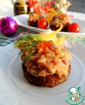 Как приготовить Тартар из красной рыбы с апельсином домашний рецепт с фото