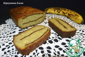 Рецепт Кекс банановый на мякоти авокадо