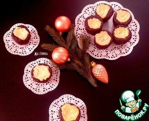 Рецепт Шоколадные кексы с творожным кремом