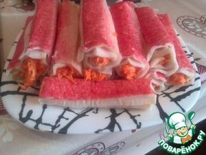 Крабовые палочки фаршированные домашний рецепт с фото