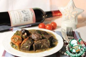 Телятина томленая в красном вине вкусный рецепт с фотографиями как приготовить