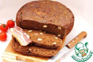 Рецепт Хлеб ржаной зерновой с красным вином и тмином