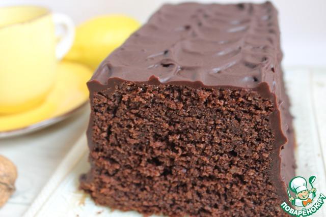 минералке бисквита Рецепт шоколадного на