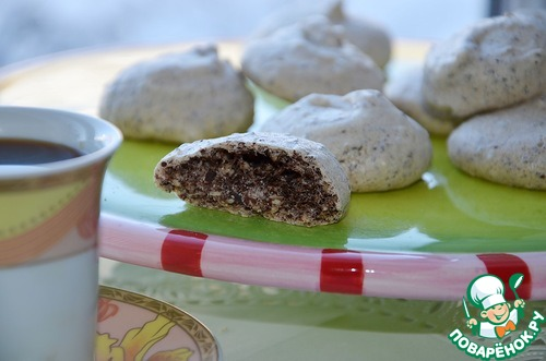 Меренги с кунжутом, шоколадом и корицей