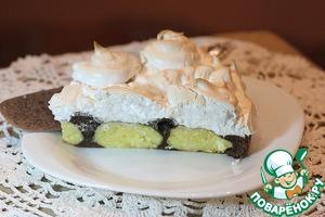 Шоколадный торт с творожными шариками и меренгой рецепт с фото