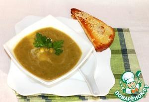 Рецепт Суп-крем из зеленого горошка с мятой