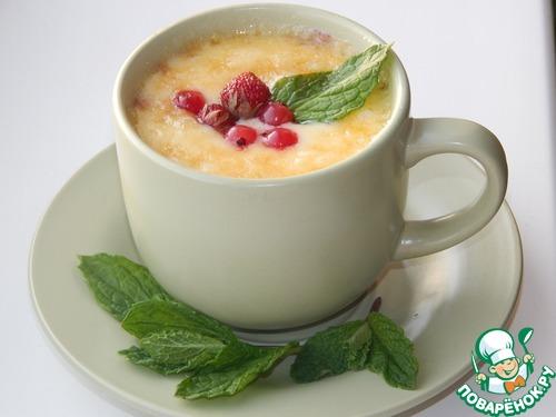 Десерт из замороженных ягод и сыра