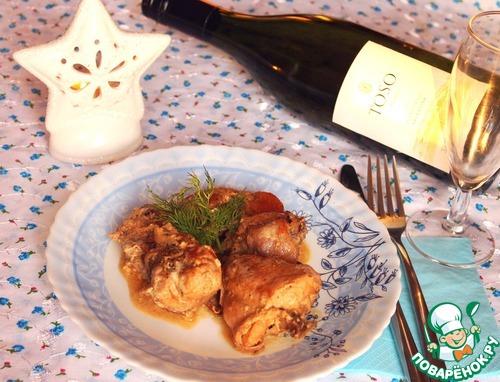 Кролик, томленый в белом вине и сметане с белыми грибами вкусный рецепт с фото пошагово #7