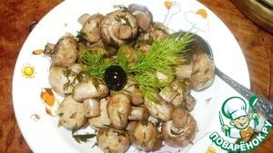 Быстрые маринованные шампиньоны пошаговый рецепт приготовления с фотографиями