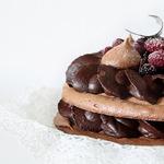 Шоколадный меренговый торт