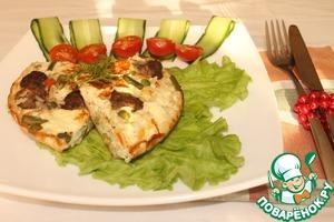 Рецепт Фриттата с овощной смесью, рисом и мясными шариками в мультиварке