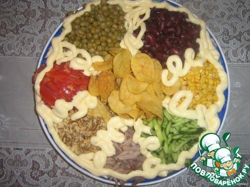 Сленый салат с тунцом