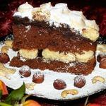 Шоколадный торт c коньячным сиропом