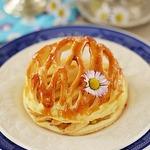 Яблочные тарталетки в ажурном куполе