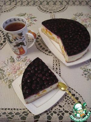 Творожный торт из слоеного теста с заварным кремом