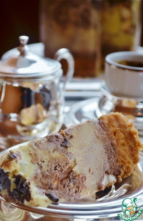 Торт-мороженое с маршмеллоу и шоколадом