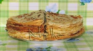 Рецепт Сырные блины с луковым припeком
