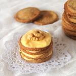 Диетическое овсяно-ореховое пирожное с тыквенным кремом