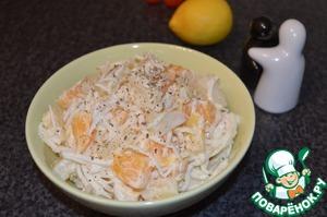 Салат из корневого сельдерея с фруктами пошаговый рецепт с фото как готовить