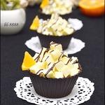 Шоколадные корзинки с лимонным конфи и апельсиновым желе