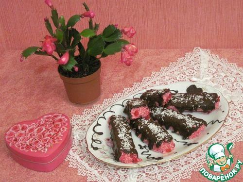 Вишнево-кокосовые конфеты-батончики в шоколаде