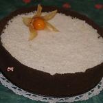 Кокосовый чизкейк с кусочками ананаса
