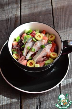 Готовим вкусный рецепт приготовления с фото Винегрет «Весенний» из мультиварки