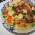 Суп гороховый с ребрышками и нутом