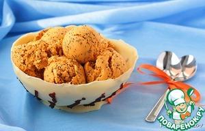 Морковно-маковое мороженое в шоколадной чашке рецепт приготовления с фото