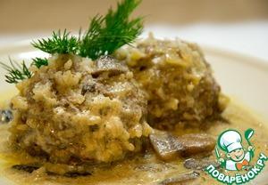 Как готовить простой рецепт приготовления с фотографиями Тефтели в нежном сливочно-грибном соусе