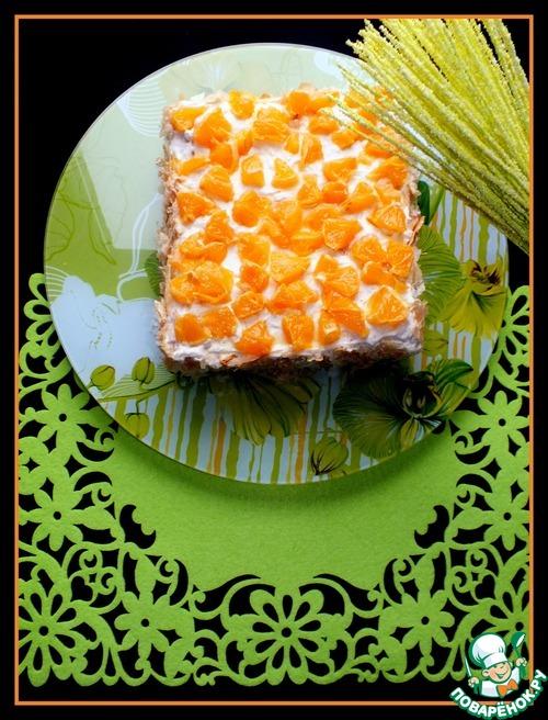 """Слоеный торт """"Фруктовое удовольствие"""""""